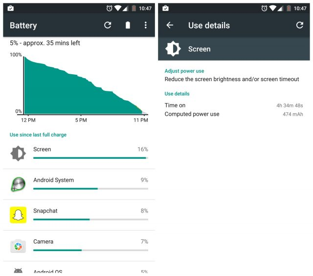 OnePlus 3 battery life heavy use