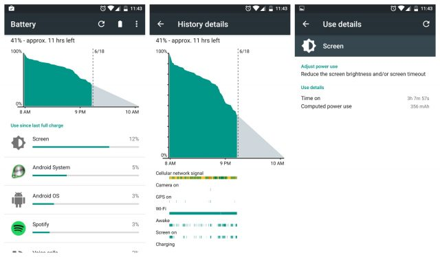 OnePlus 3 battery life light use