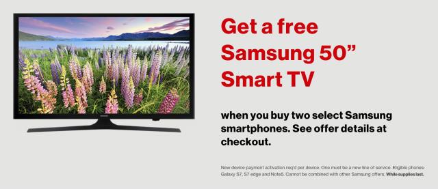 Verizon Free Samsung Smart TV
