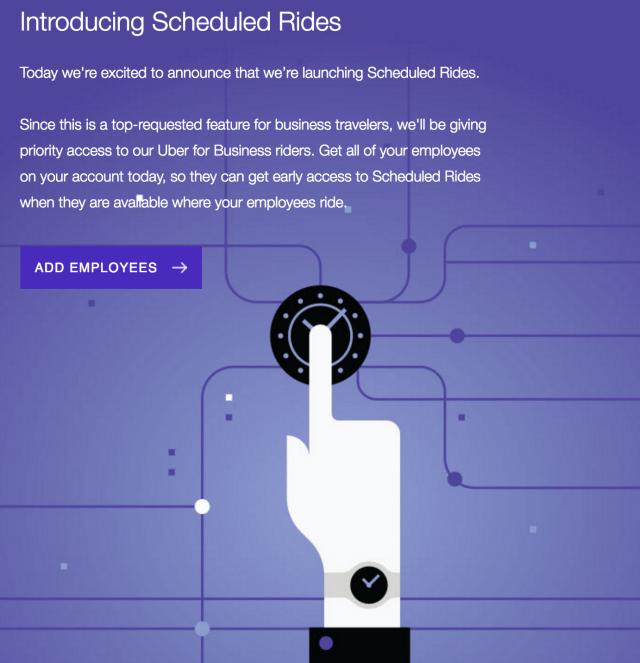 Uber Schedule Ride