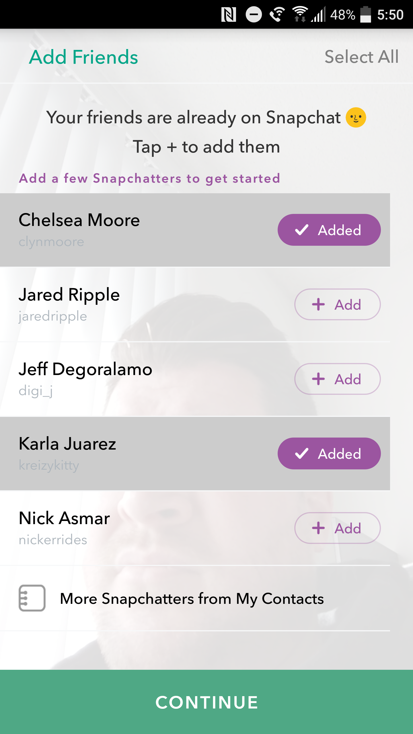 How to see friends added on snapchat