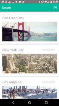 Detour Application Screenshot