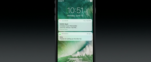 iOS 10 lock screen card UI