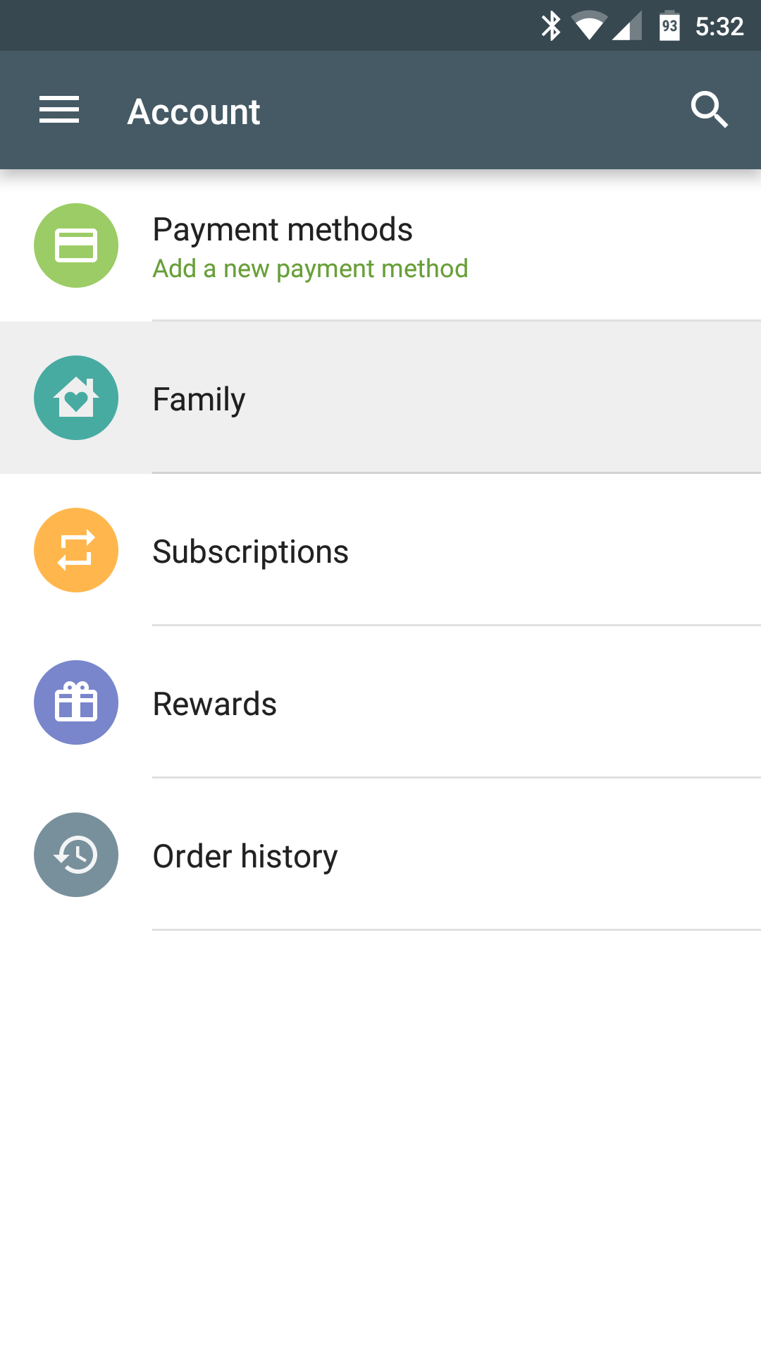 How to activate a Google Play Family account