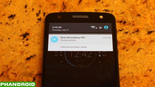 Moto Mod Notification