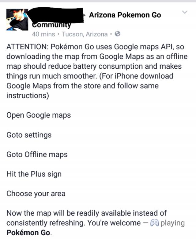 Pokemon Go Google Maps offline myth