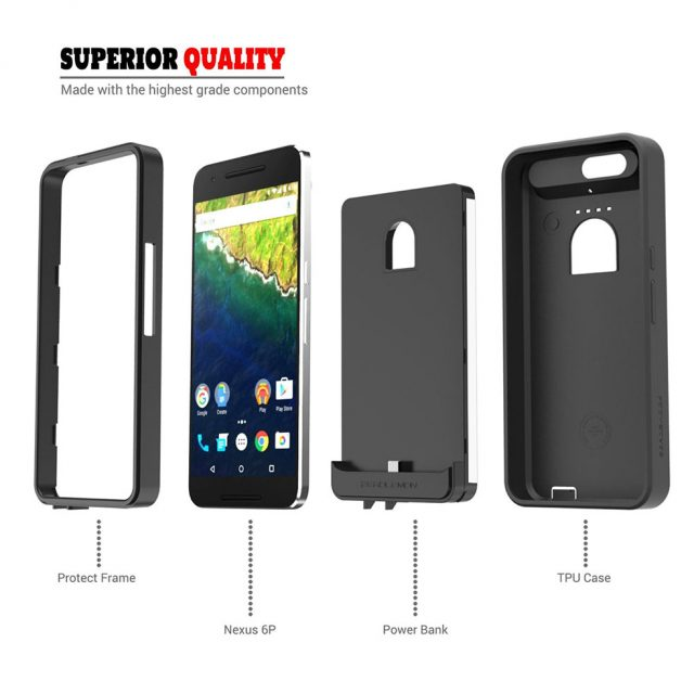 sports shoes af077 95129 ZeroLemon introduces a rugged 8500mAh battery case for the Nexus 6P