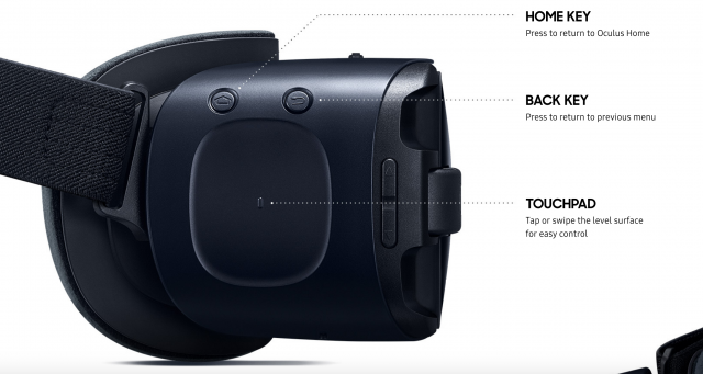 Samsung Gear VR 2016 new touchpad