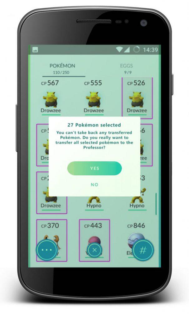 pokemon go multi select