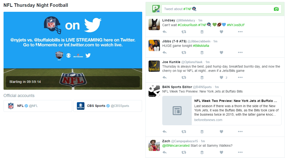 How to watch the Bills vs  Jets NFL stream on Twitter tonight