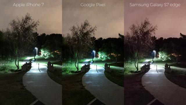 pixel-camera-versus-iphone7-galaxys7edge-night-path