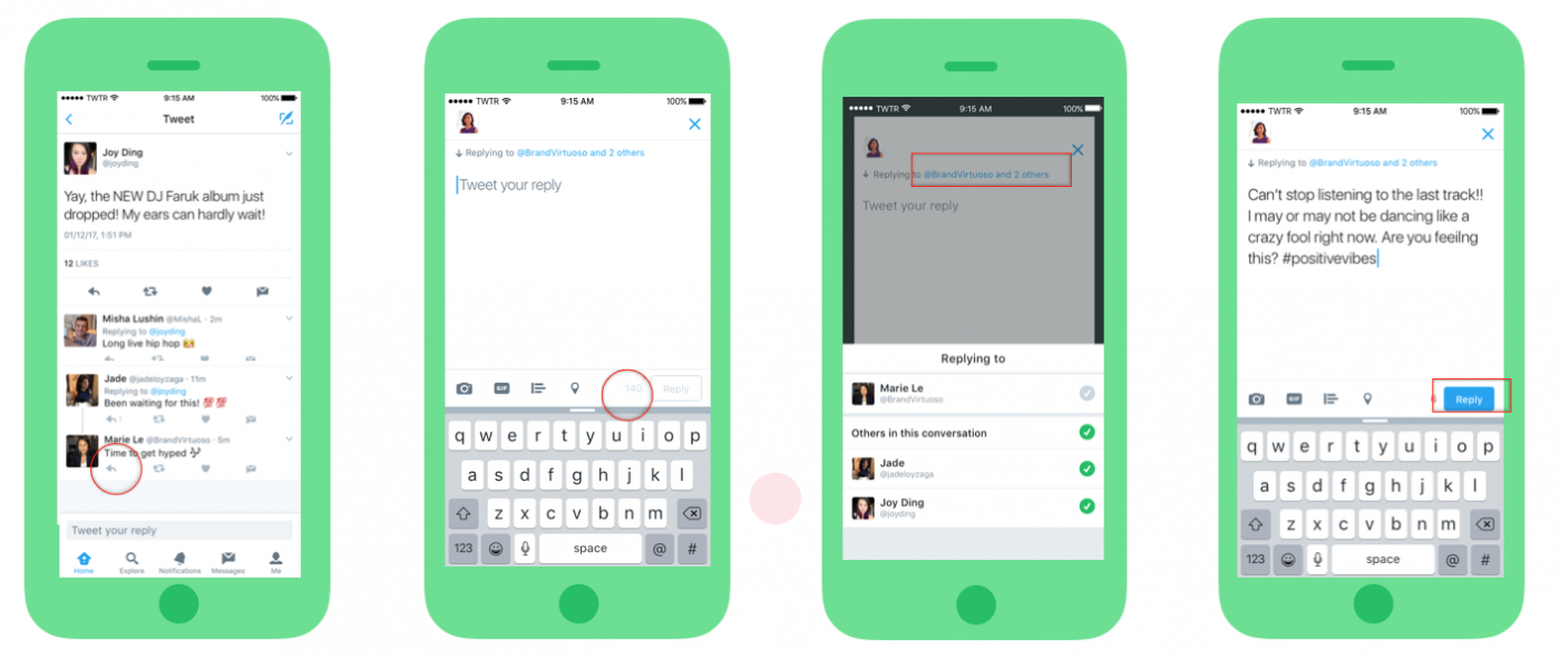 Twitter's @usernames no longer count against 140 character