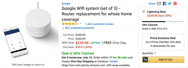 HURRY: 20% Off Google WiFi 3-Pack (Limited Quantity)