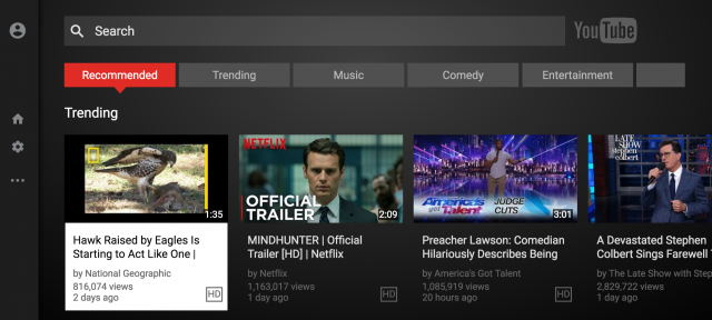 YouTube Android TV app is just a web wrapper, now