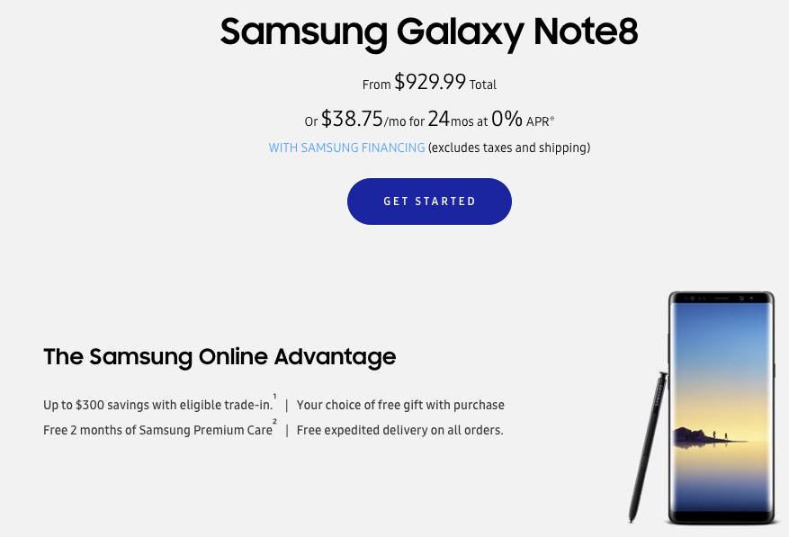 Where to buy the Samsung Galaxy Note 8