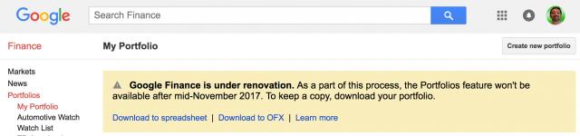 Huge Google Finance Updates coming in November