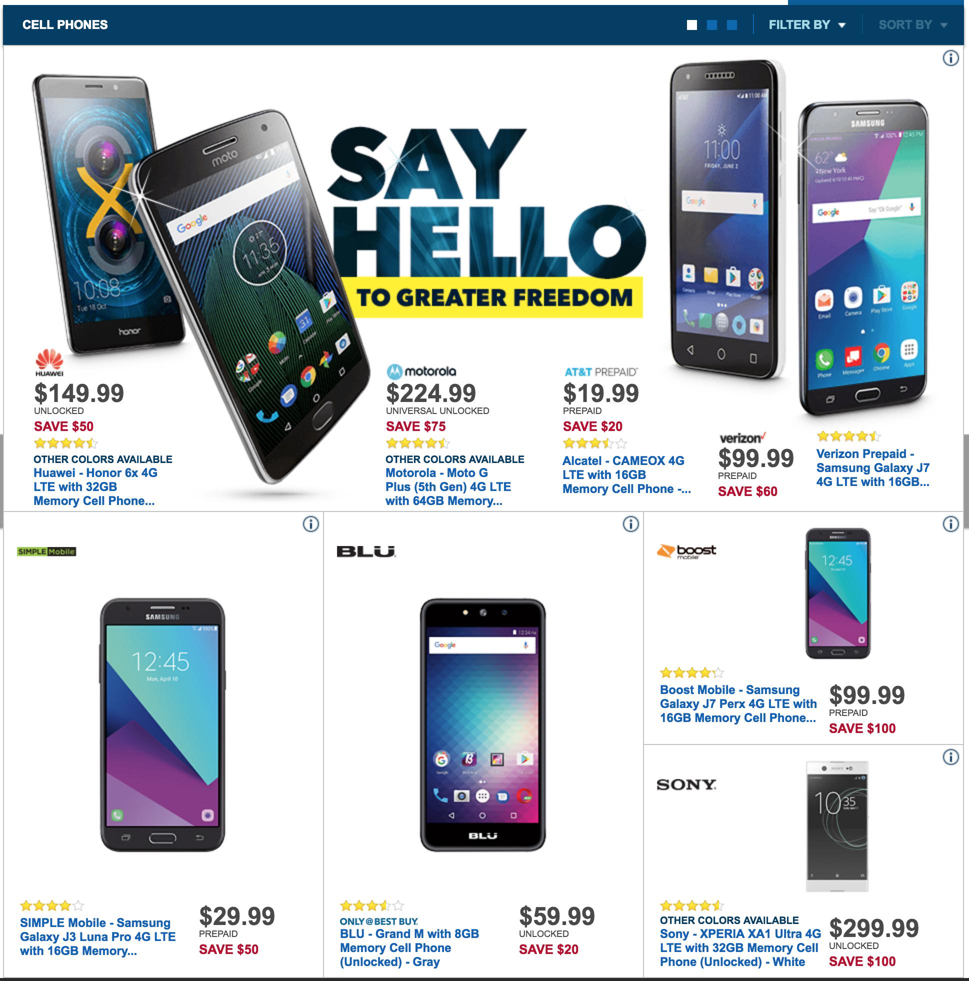 black friday deals on cell phones unlocked