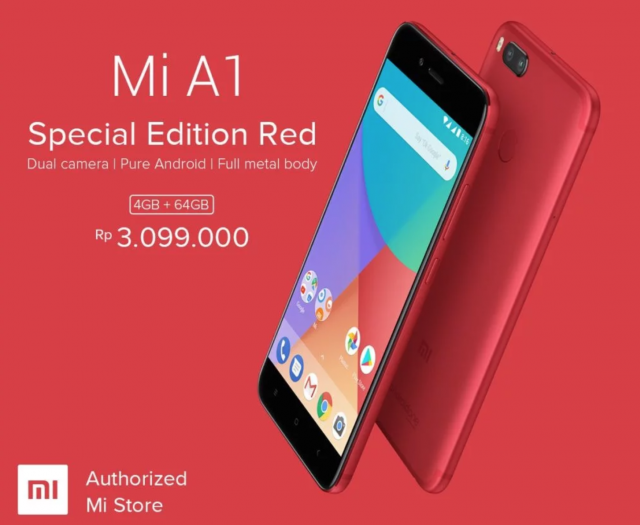 Xiaomi Mi A1 now comes in a stunning red color