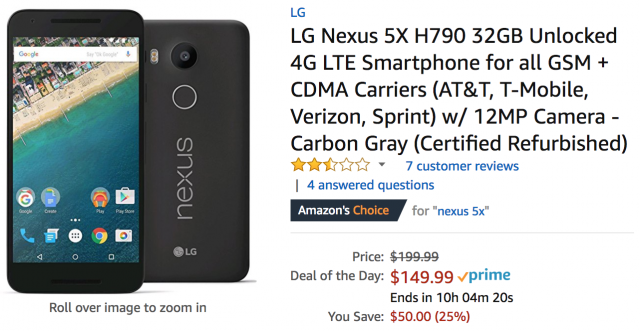 DEAL: Get a Nexus 5X or Nexus 6P for as low as $141