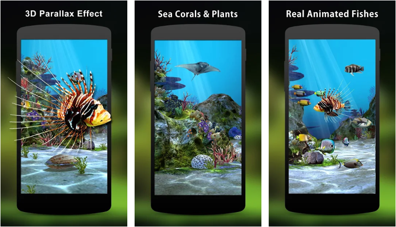 Aquarium 3D - 5 Live Wallpaper Apps to keep your android home screen fresh