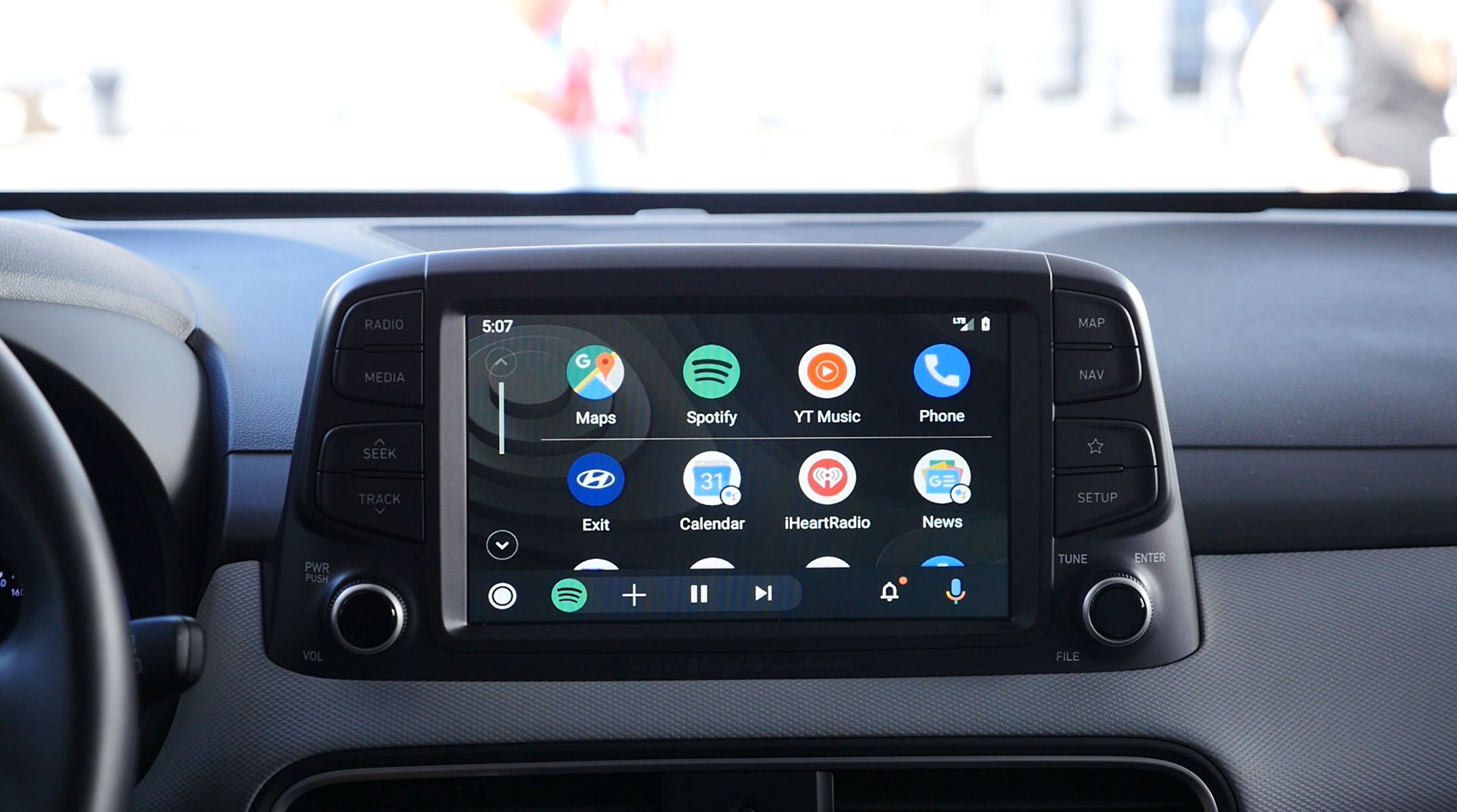 The redesigned Android Auto seems to be rolling out
