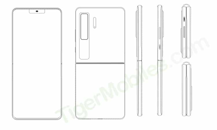Huawei patents clamshell foldable phone