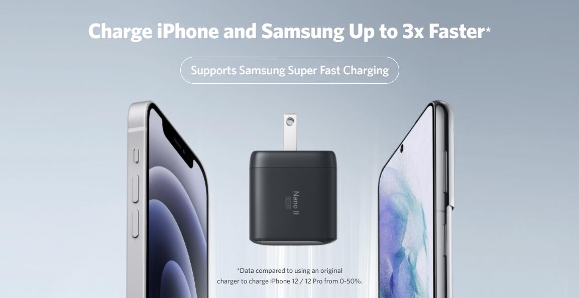 Anker Nano II iPhone and Samsung