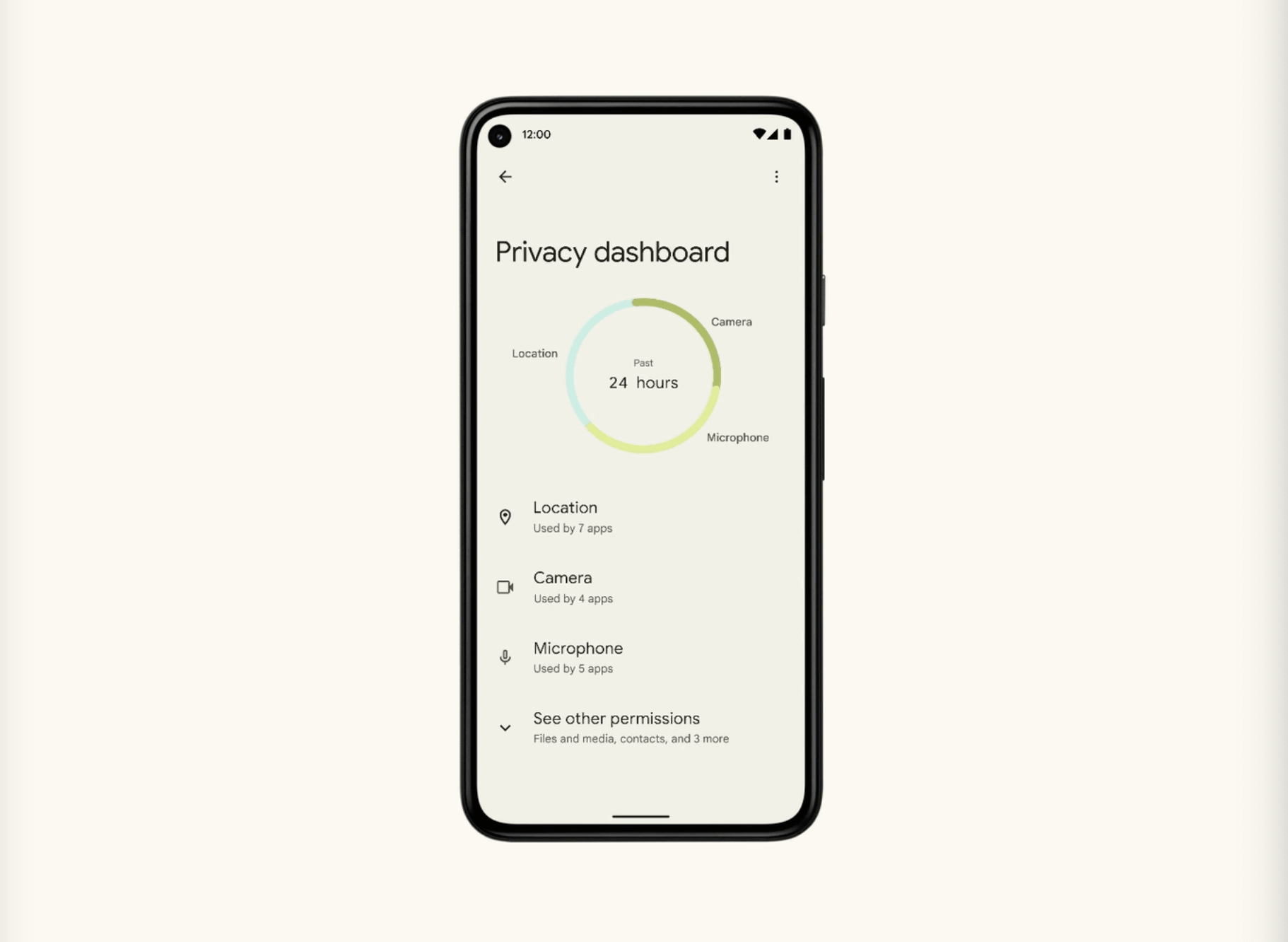 Android 12 beta 2 Privacy Dashboard