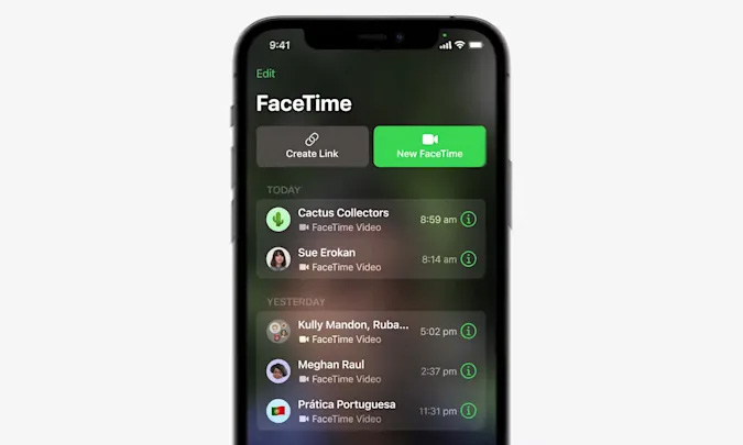 Facetime links web app
