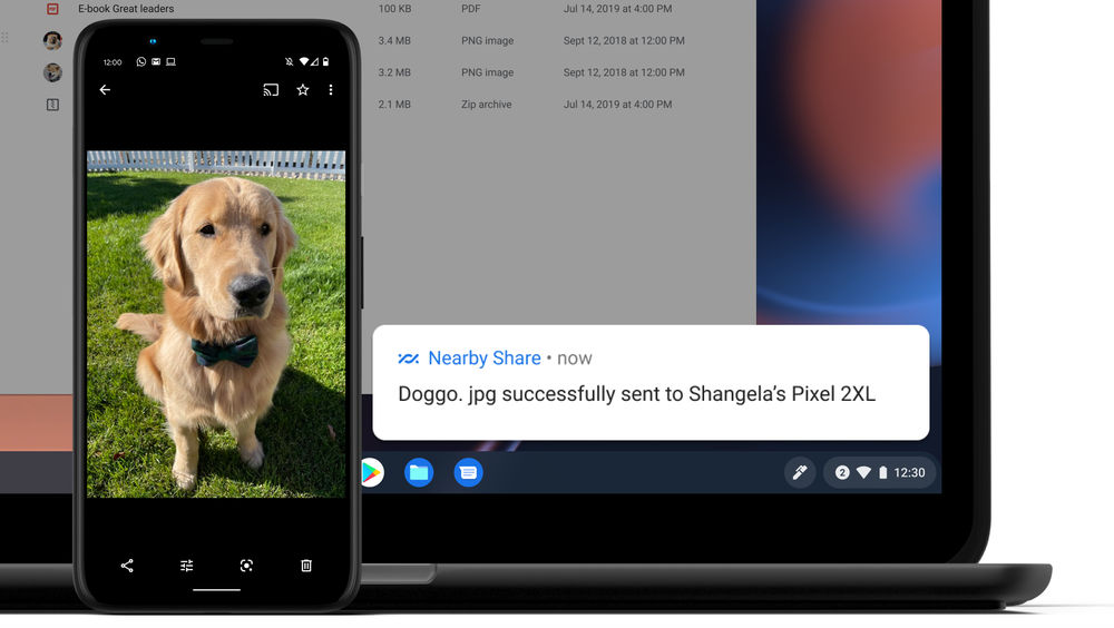 Android's Nearby Share highlight will be coming to Chromebooks