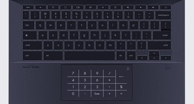 ASUS Chromebook CX9 numpad