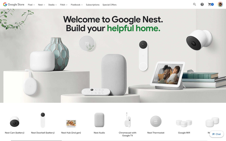 Google Nest Cam Storefront Leak