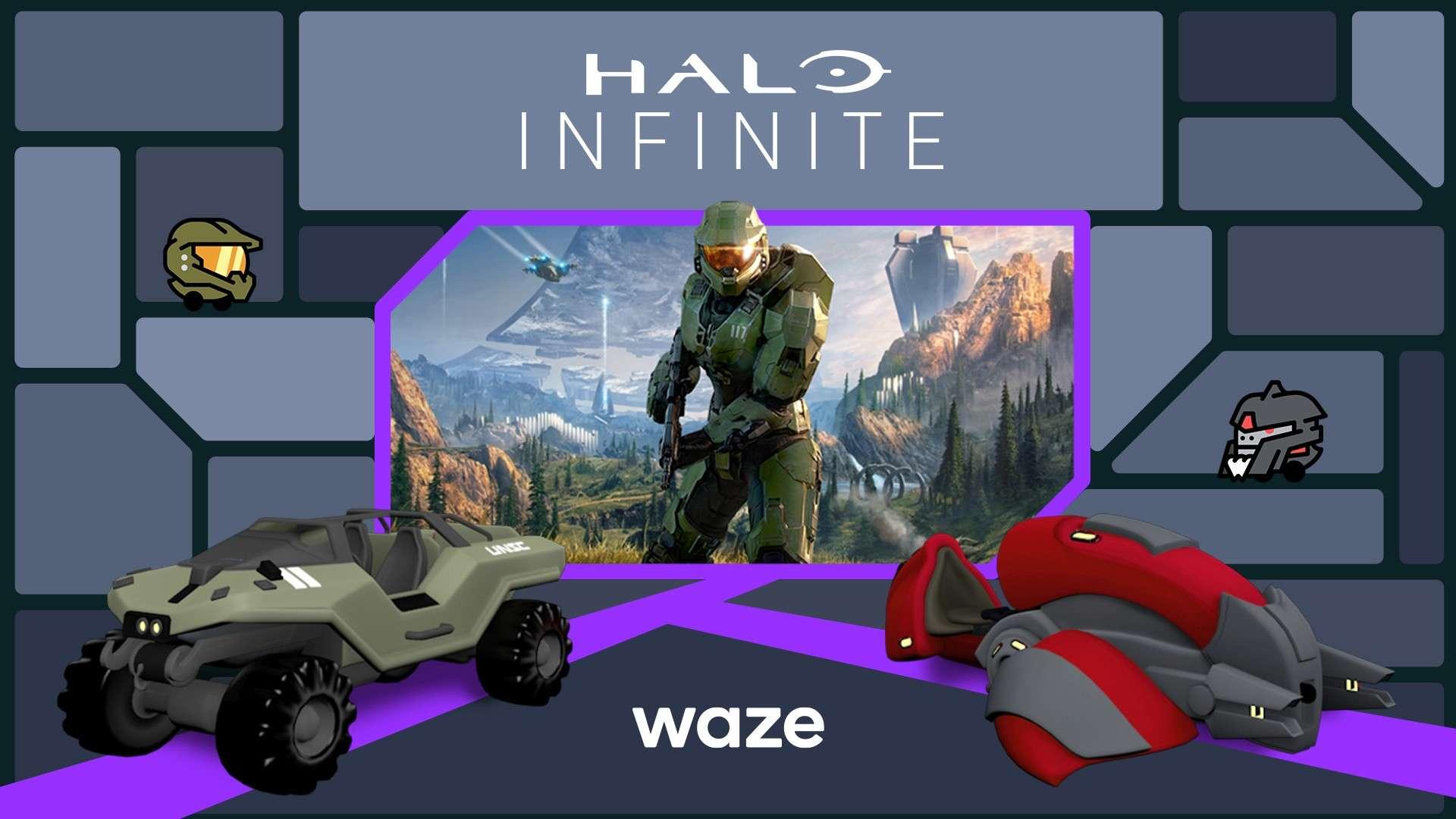 Halo Infinite Waze Partnership Hero