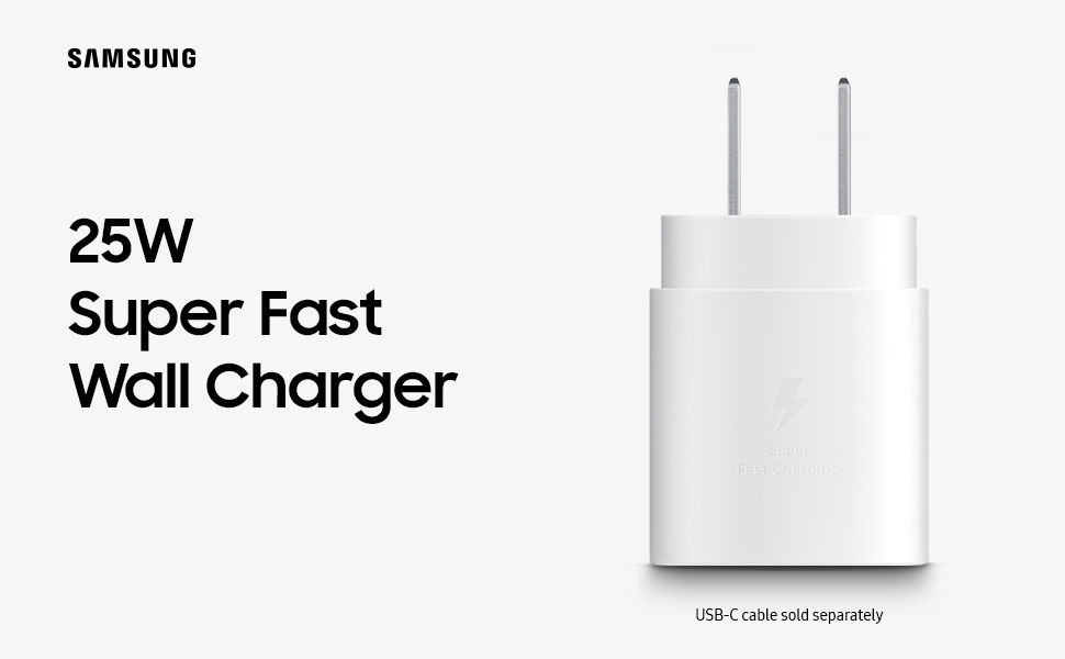Samsung 25W USB-C Wall Charger Render