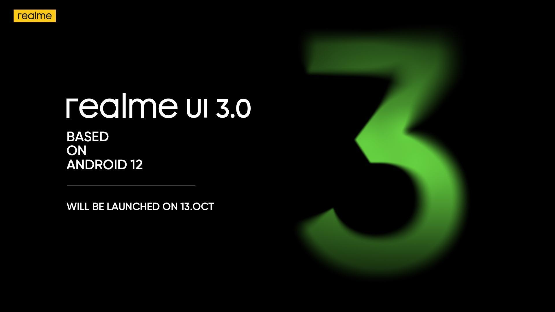 Realme UI 3.0, in light of Android 12, coming quite close to weeks