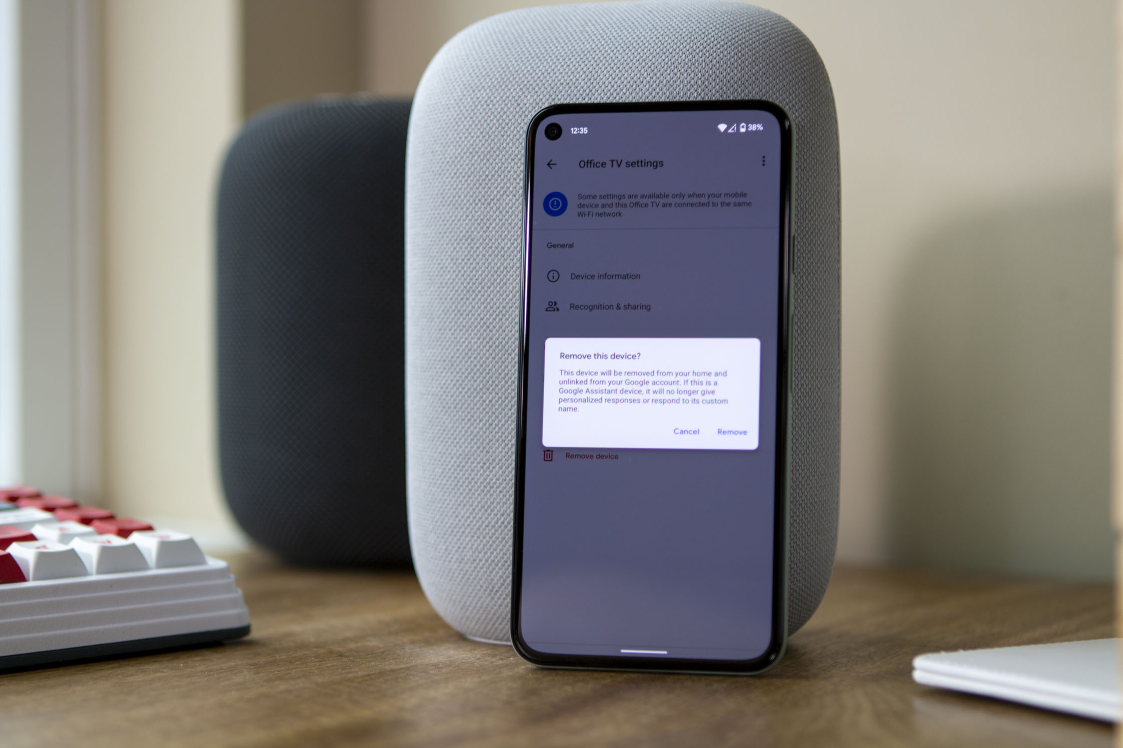 Remove a device from Google Home Pixel 5